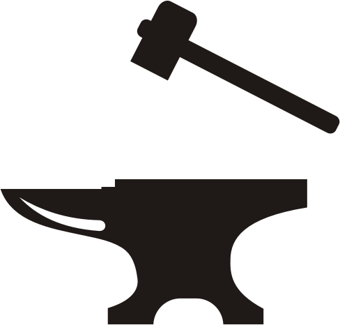 Anvil clipart transparent. And hammer medium image