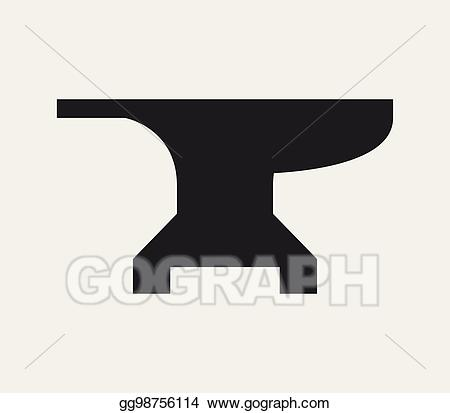 Art icon drawing gg. Anvil clipart vector