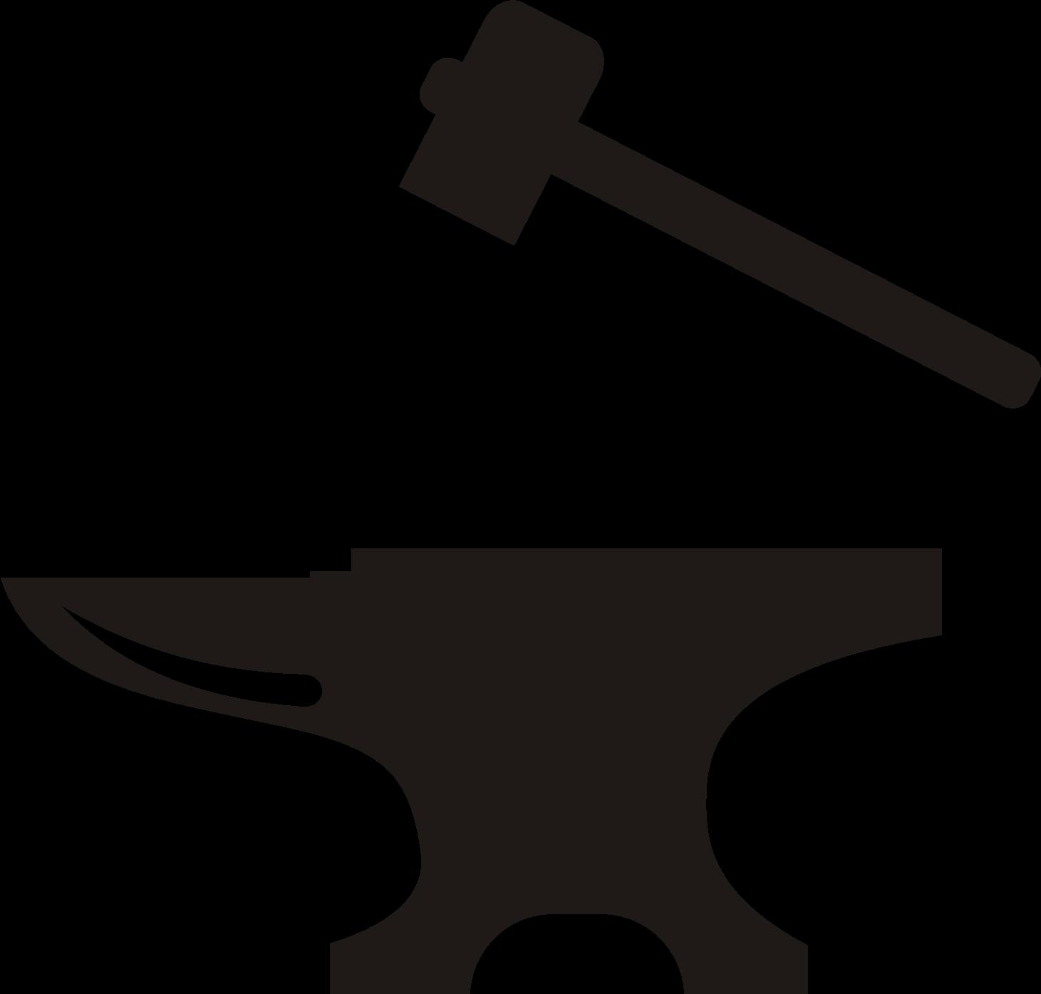 Anvil clipart vector. Blacksmith hammer clip art