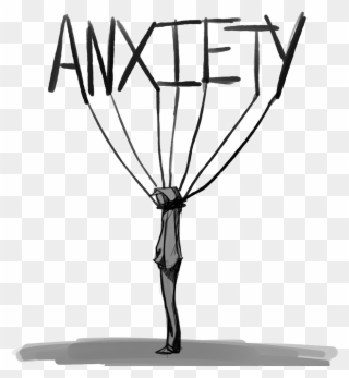 Anxious anxietyattack sad depression. Anxiety clipart academic stress
