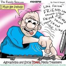 Is social media a. Anxiety clipart agoraphobia