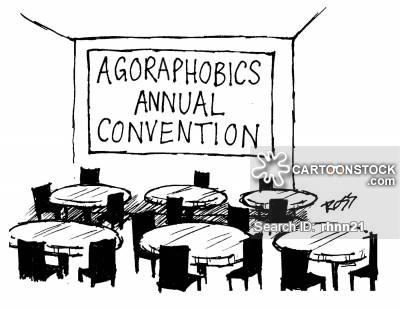 Agoraphobic cartoons and comics. Anxiety clipart agoraphobia