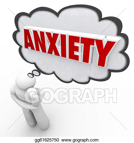 Anxiety clipart clip art. Drawings word thought bubble