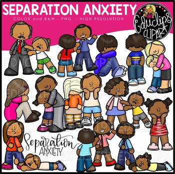 Anxiety clipart clip art. Separation bundle educlips