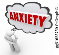 Anxiety clipart consternation. Stock illustration word means
