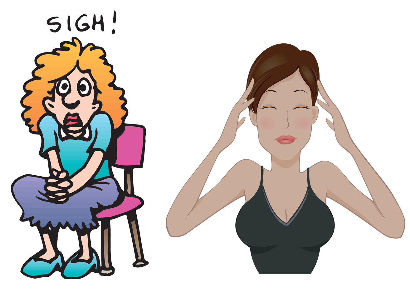 Free anxiety cliparts download. Worry clipart girl stress