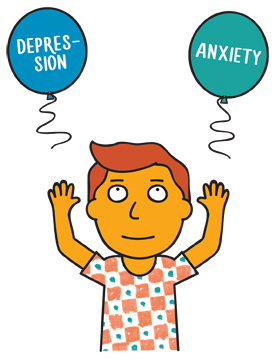 Young carers . Anxiety clipart depression