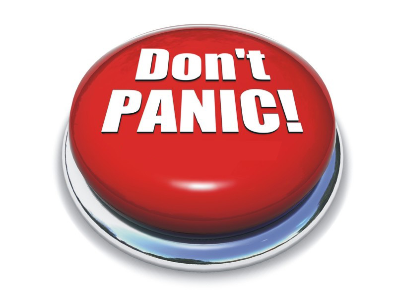 Anxiety clipart dont panic. Panda free images panicclipart