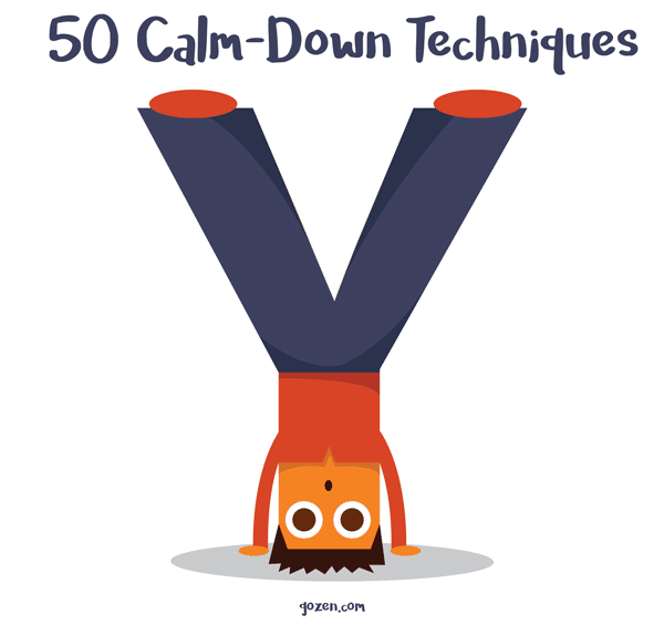 calm techniques to. Anxiety clipart down
