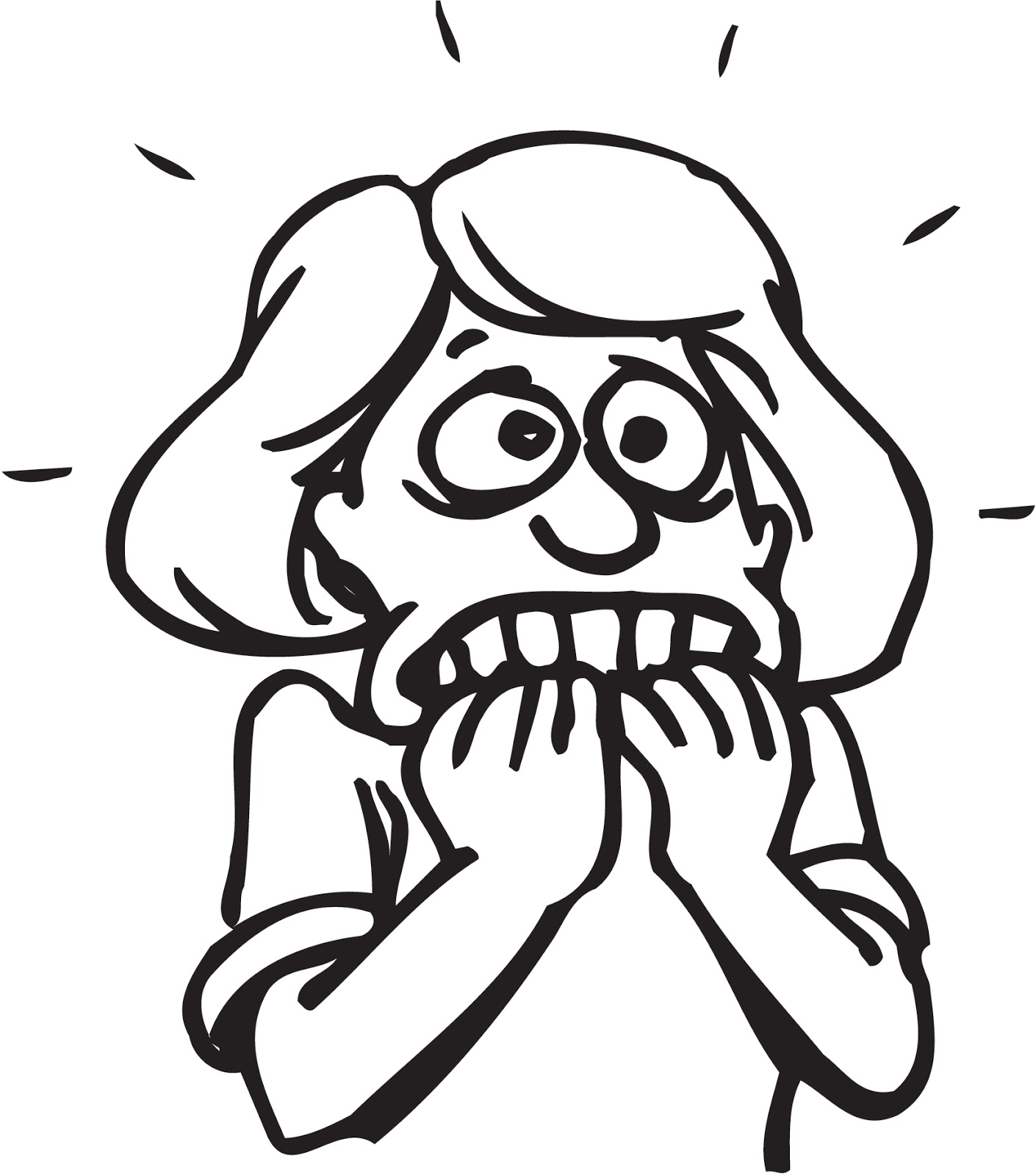 Anxiety clipart fear. Just thinking by robert