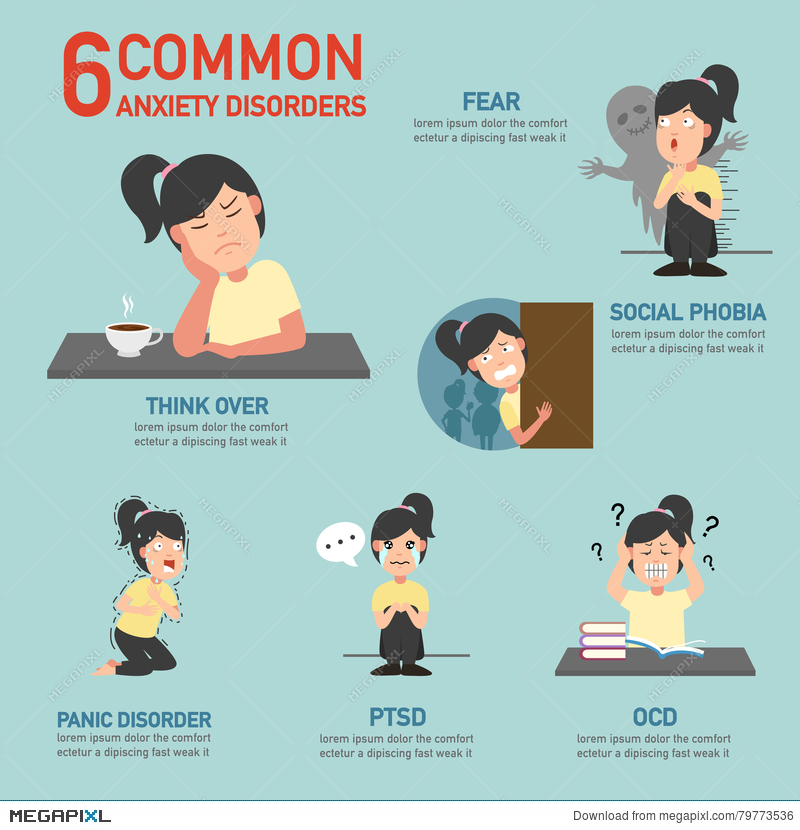 Anxiety clipart fear.  common disorders infographic