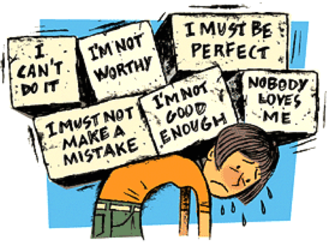 Anxiety clipart lack self confidence. Dealing with low esteem
