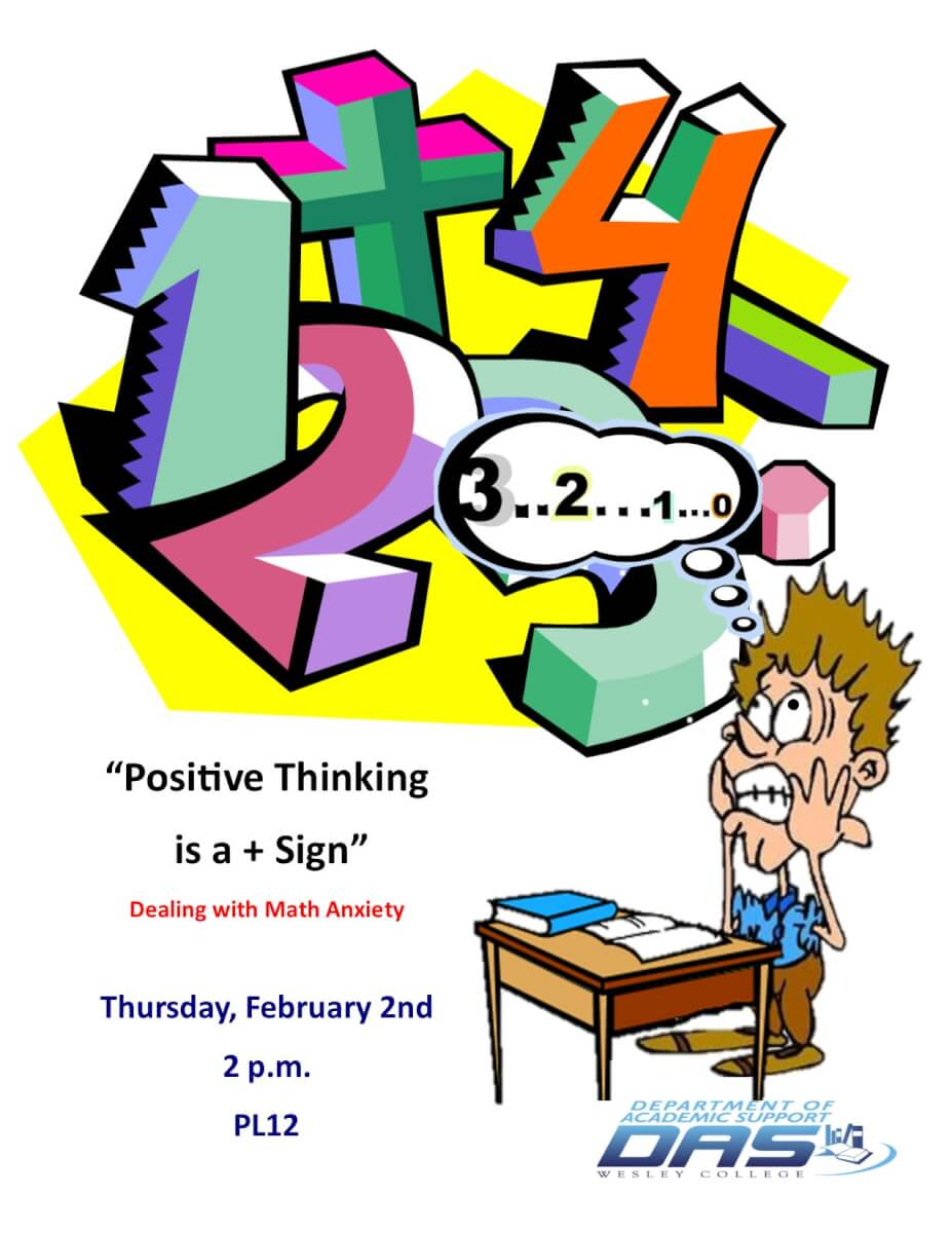 Positive thinking is a. Anxiety clipart math anxiety