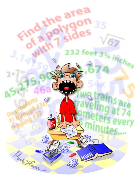 Students suffer when they. Anxiety clipart math anxiety