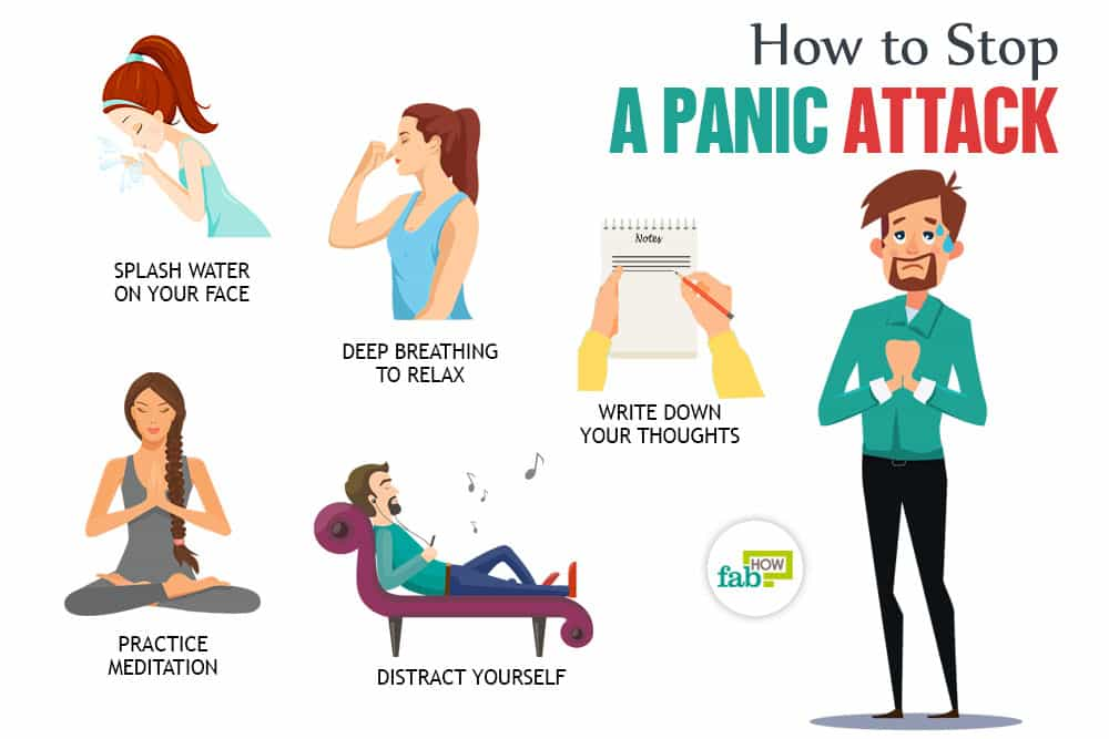 How to stop a. Anxiety clipart panic attack