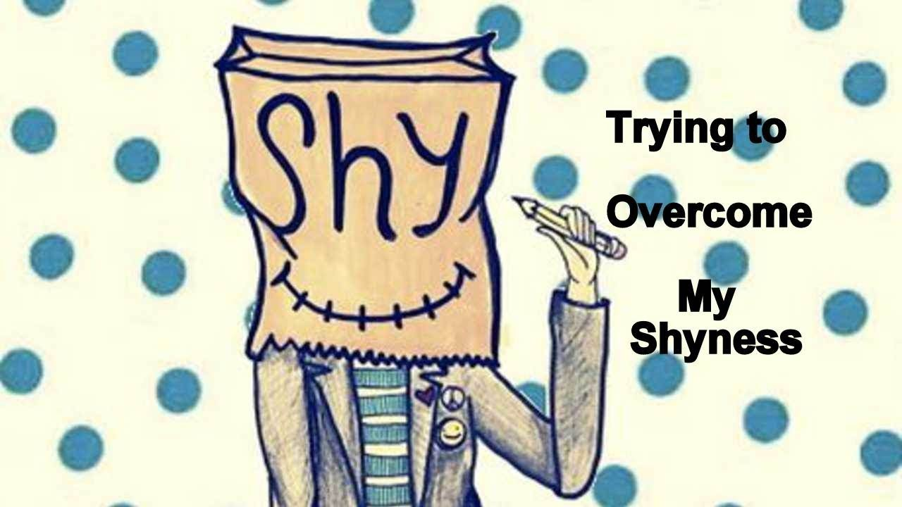 Anxiety clipart shyness. Trying to overcome my