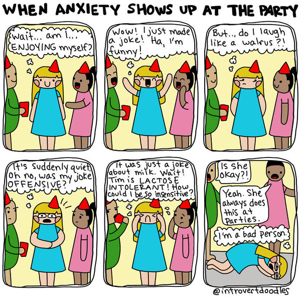comics that ll. Anxiety clipart social anxiety