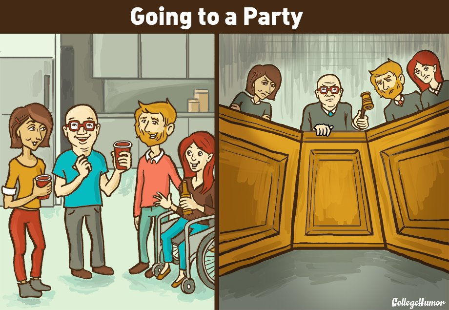 Anxiety clipart social anxiety. Reality versus collegehumor post