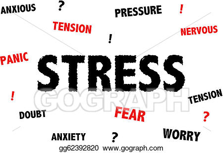 Vector stock and illustration. Anxiety clipart stress