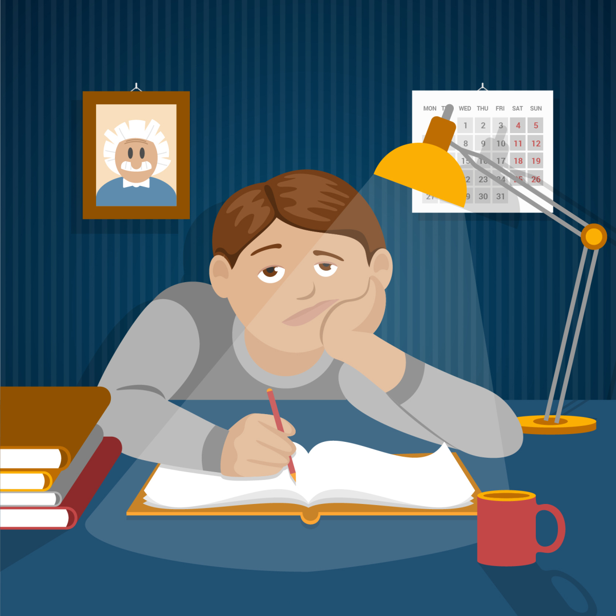 Anxiety clipart study habit.  bad habits that