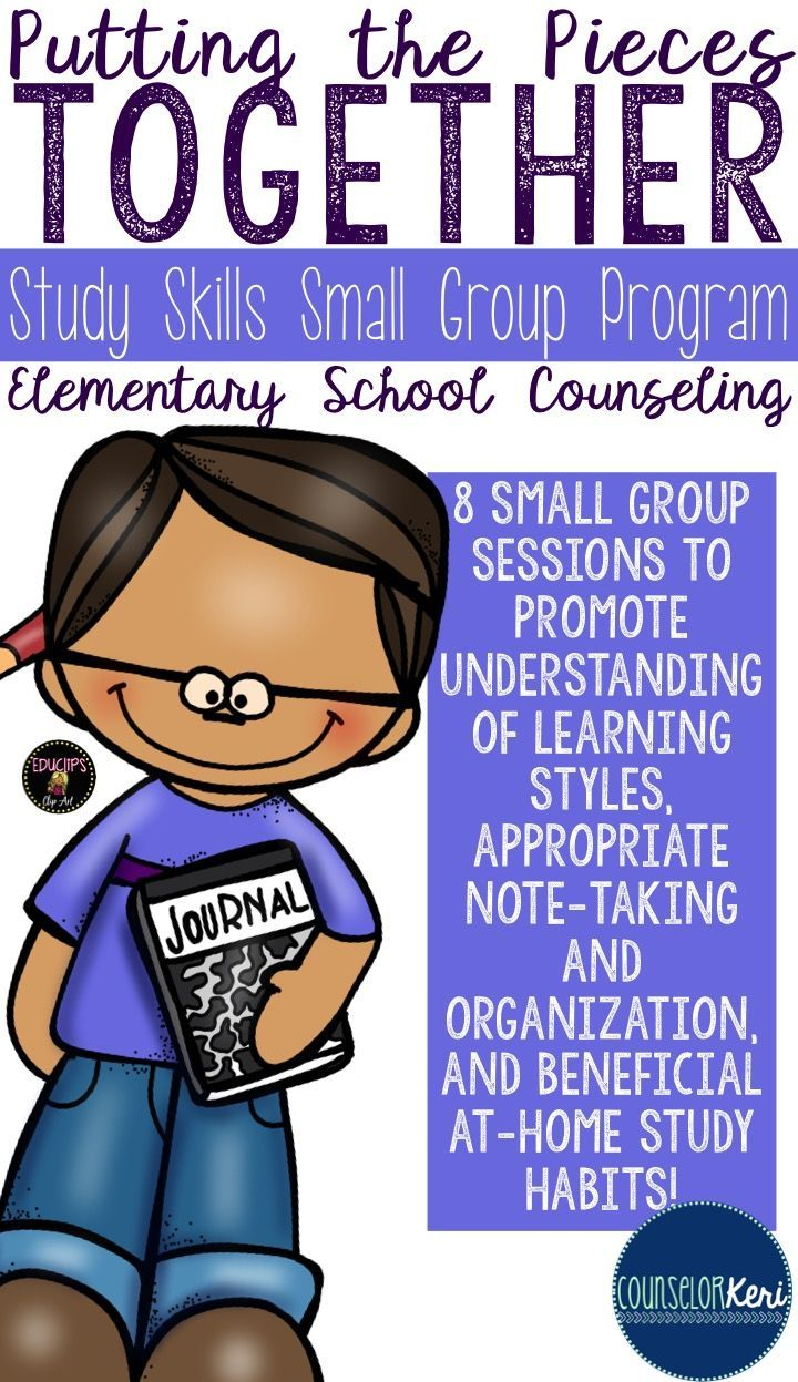 Skills group counseling program. Anxiety clipart study habit