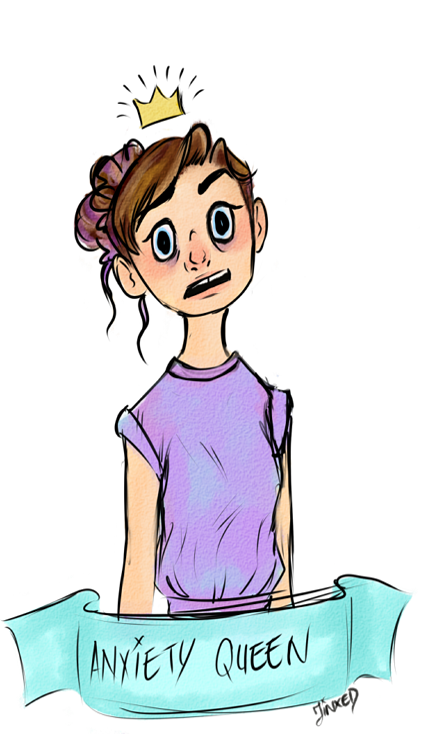 Queen . Anxiety clipart tumblr transparent