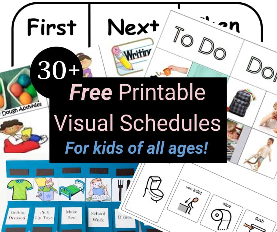 printable visual picture. Organized clipart daily plan