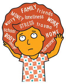 . Anxiety clipart youth