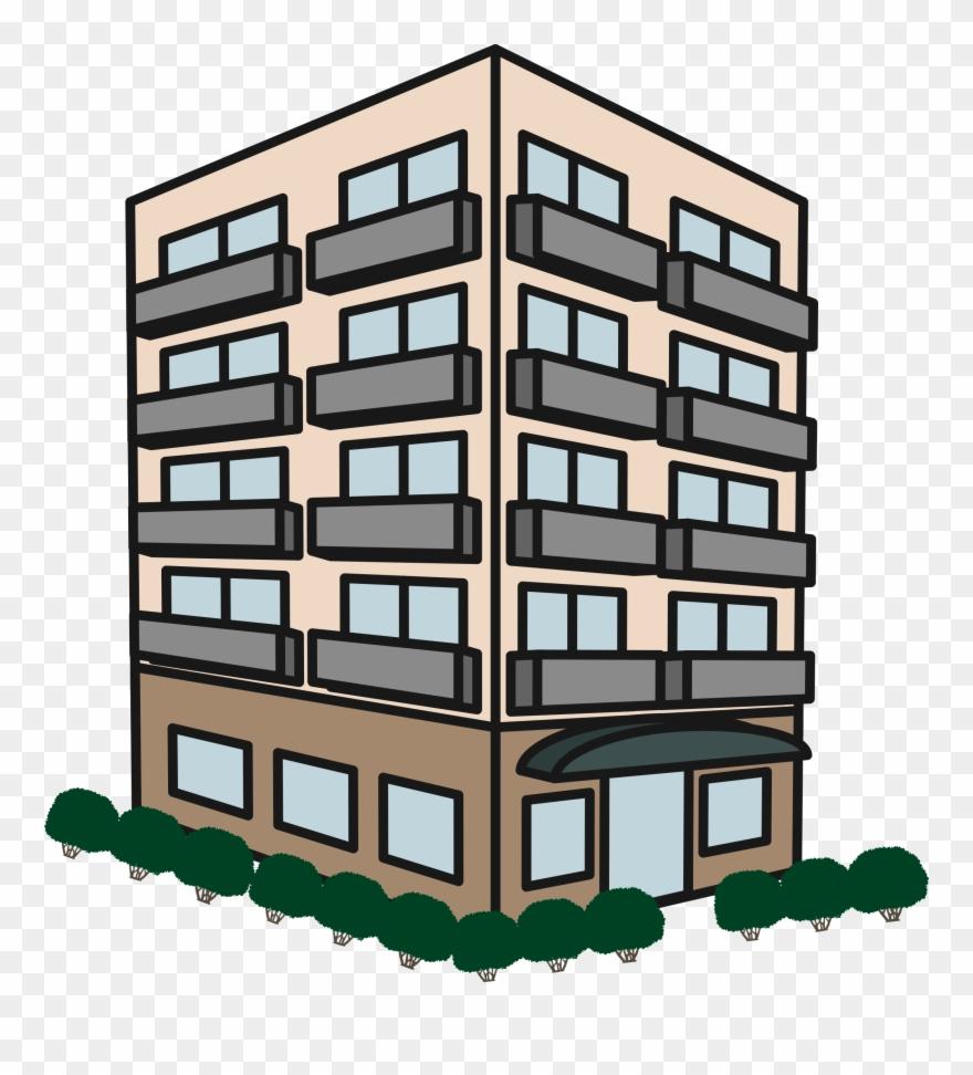 Apartment clipart. Complex house