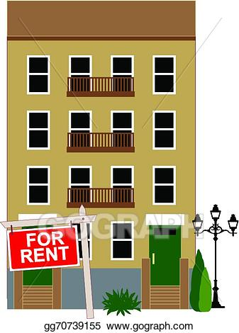 Vector illustration for rent. Apartment clipart