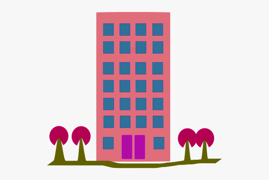 Flat building free . Apartment clipart