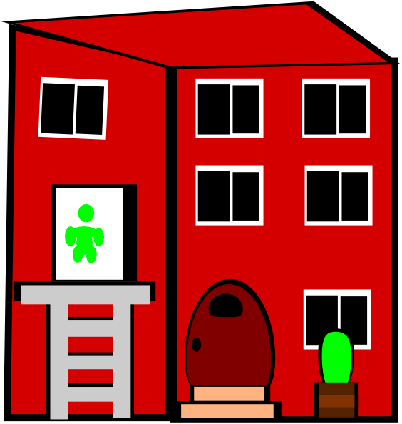 Apartment clipart animated. Building clip art at