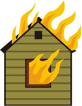 Home fire cliparts free. Apartment clipart animated