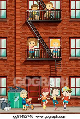 Apartment clipart animated. Vector art people living