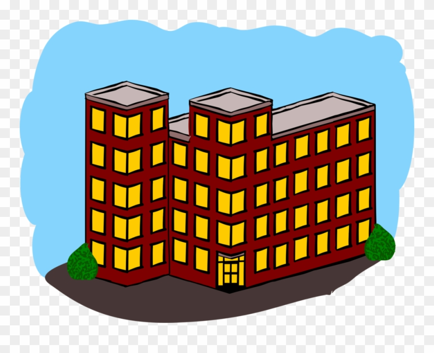 Building dwelling real estate. Apartment clipart apartment house