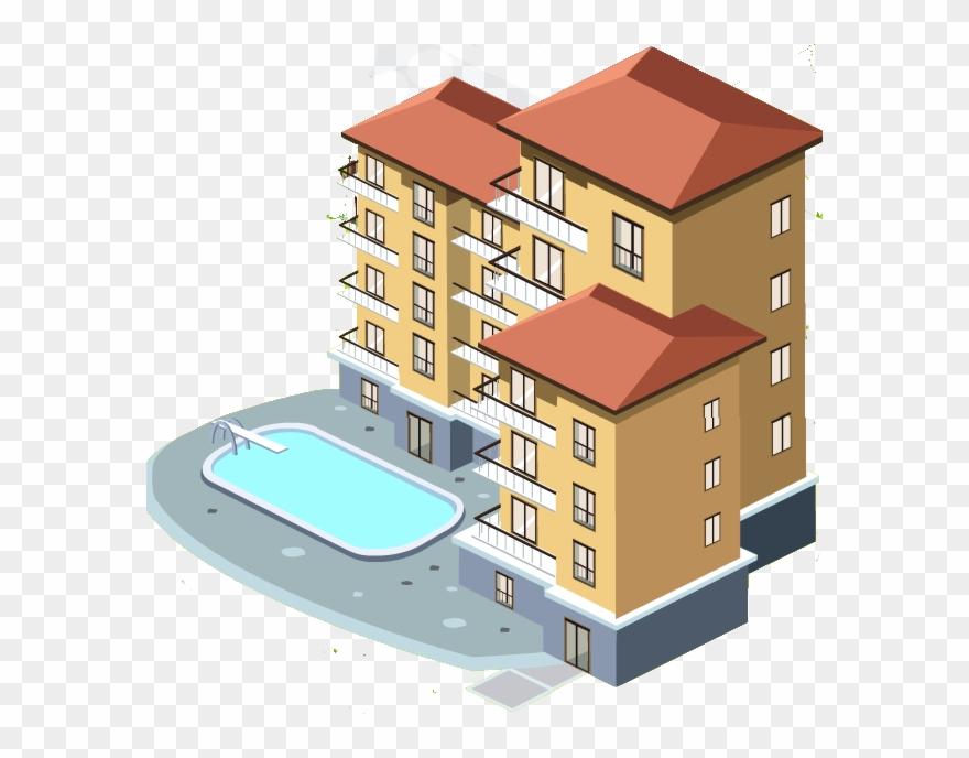 Complex appartment transparent . Apartment clipart apartment house