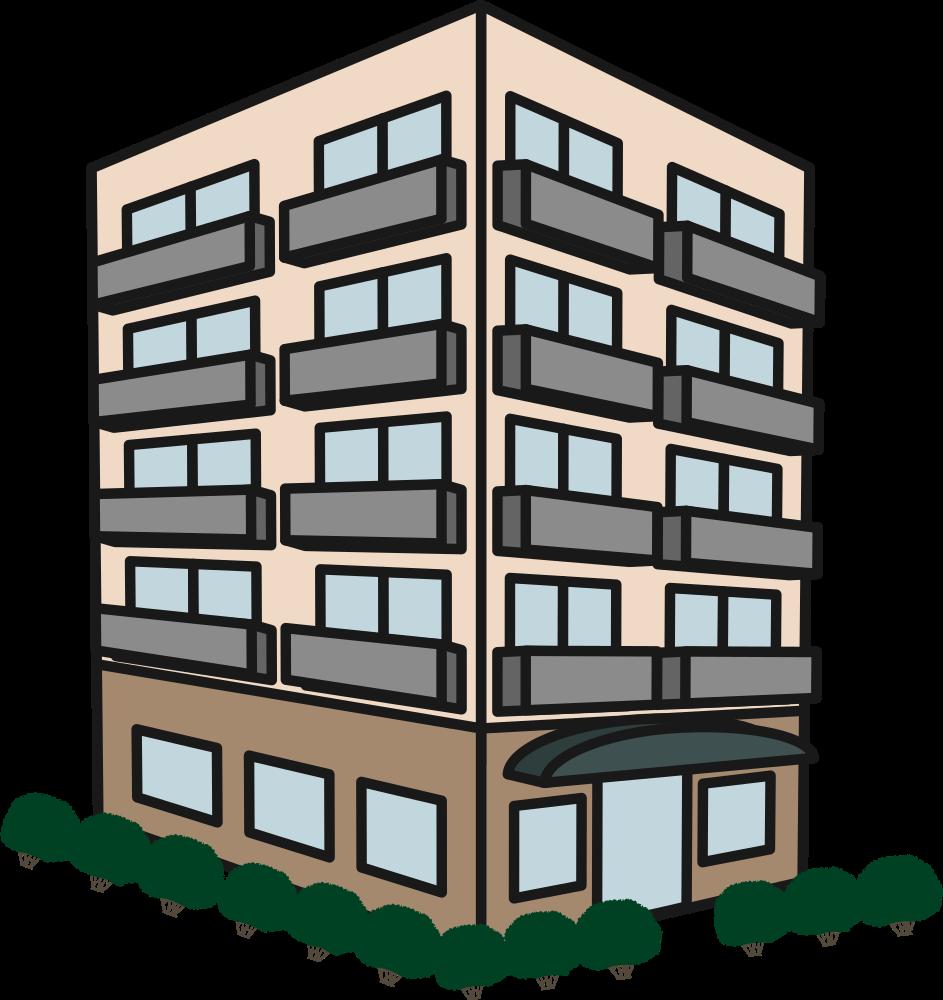 Apartment clipart appartment. Onlinelabels clip art building