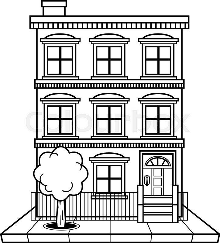 Apartment clipart black and white. Building portal