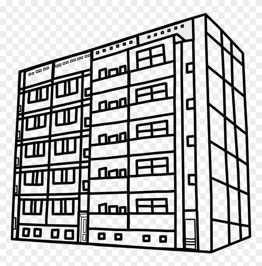 Apartment clipart black and white. Building png graphics