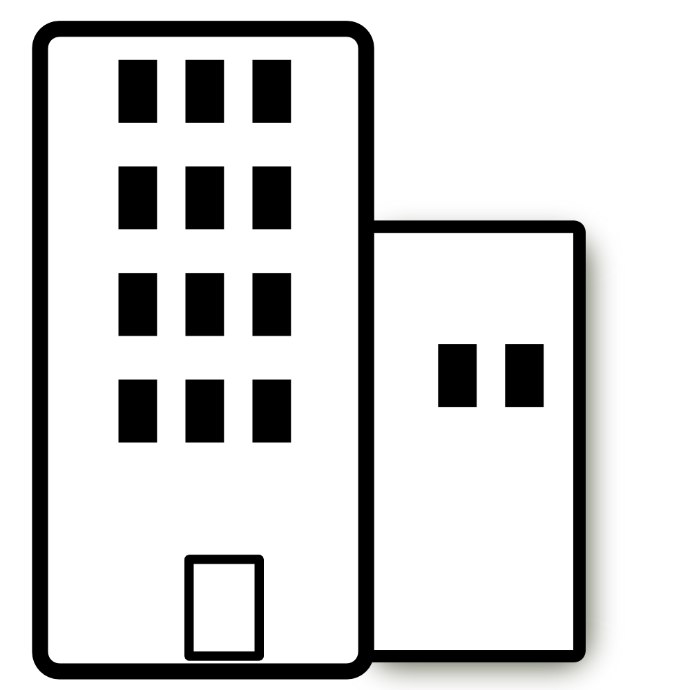 Buildings clipart outline. Apartment black and white