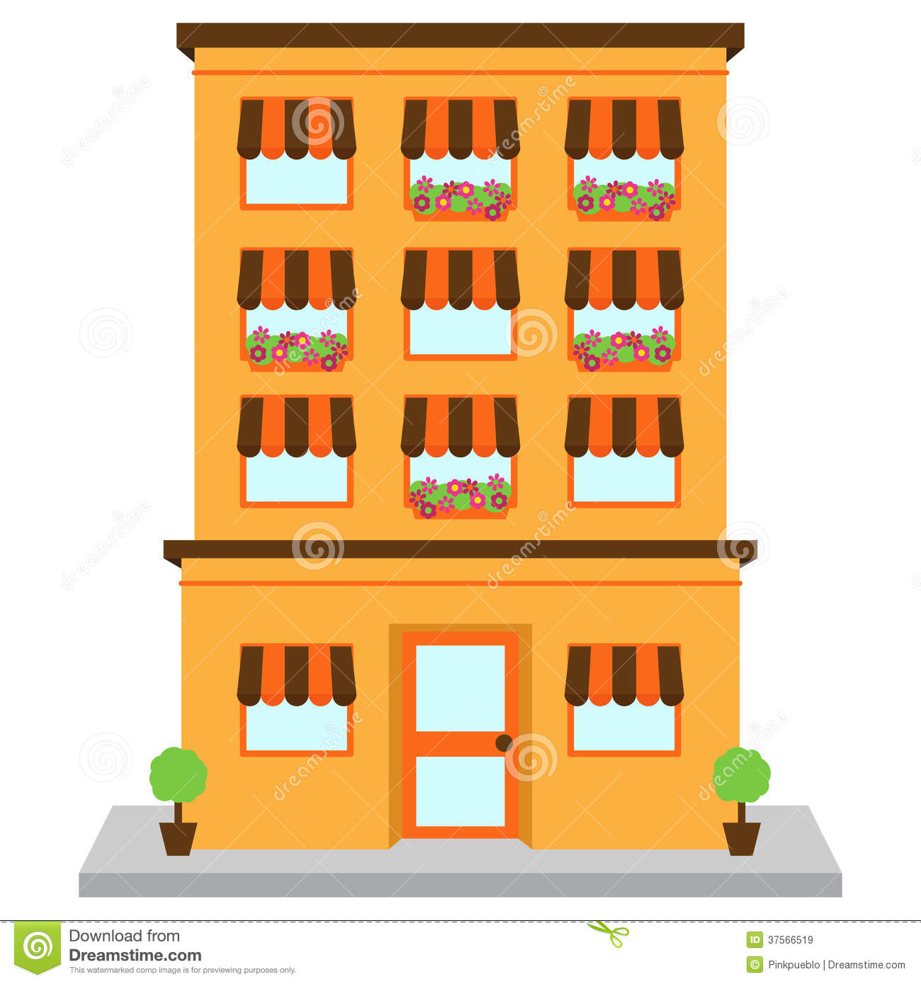 collection of high. Apartment clipart block flat