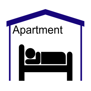 Symbol pictogram cliparts of. Apartment clipart boarding house