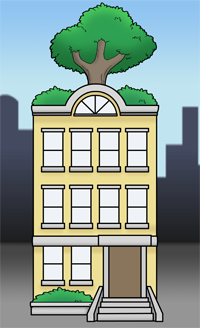 Apartment clipart boarding house. Tour the grass roots