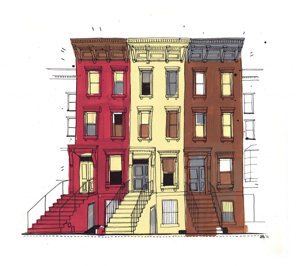 Watercolor google search architectural. Apartment clipart brownstone