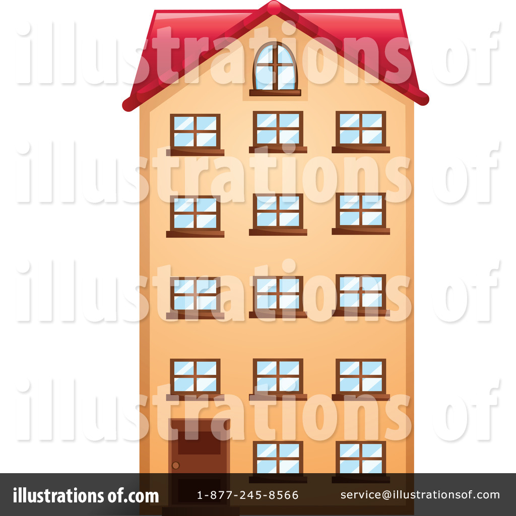 Apartment clipart buidling. Illustration by graphics rf