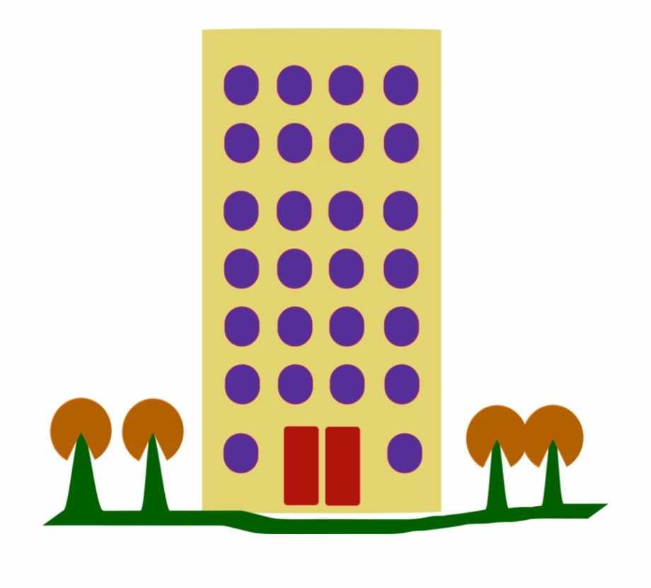 House real estate renting. Apartment clipart building design