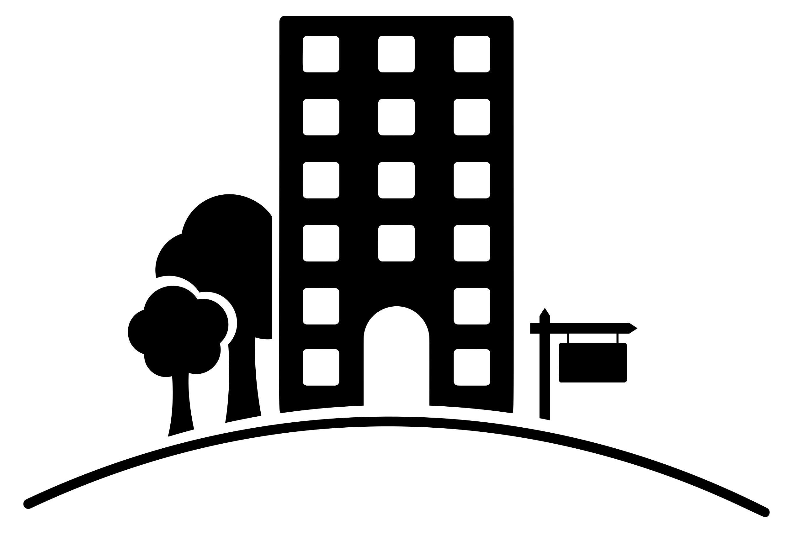 Droide. Apartment clipart building design
