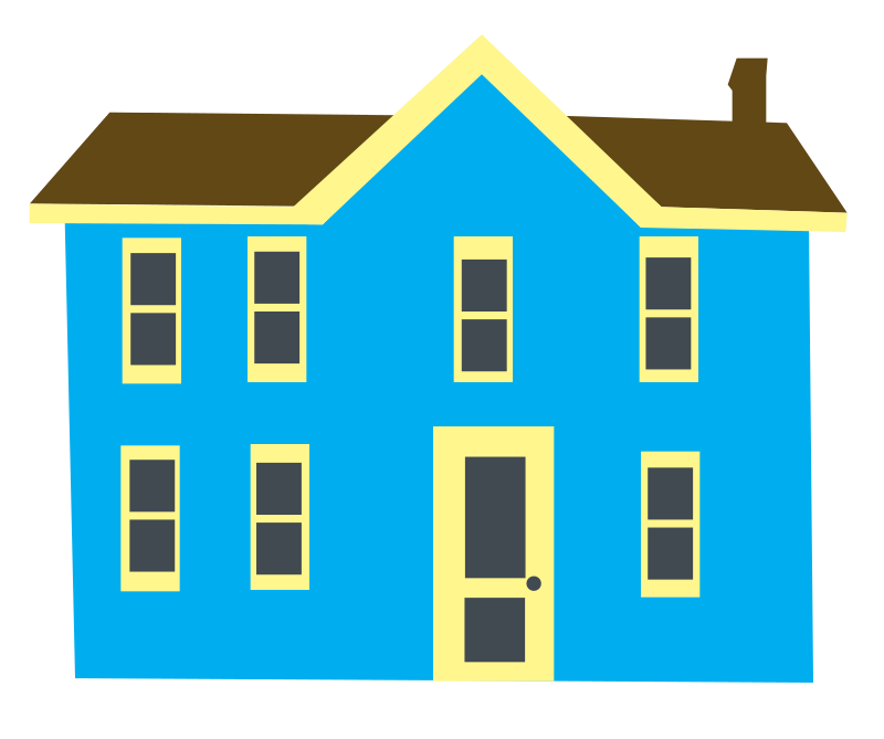 Free images of houses. Hotel clipart pink building