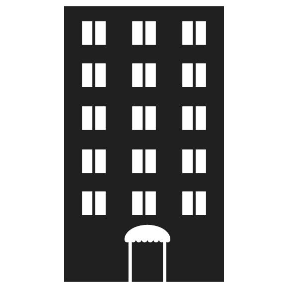 Apartment clipart bulding. Building black and white