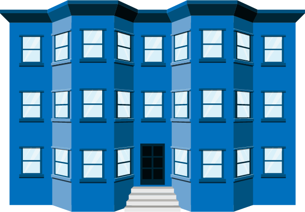 Building loans multifamily financing. Apartment clipart buliding